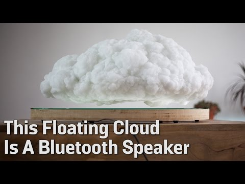 This Floating Cloud Is A Bluetooth Speaker