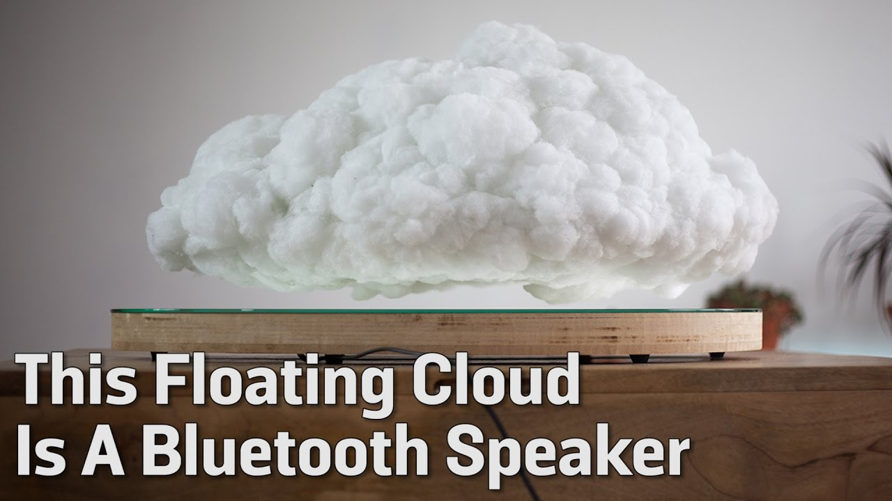 This Floating Cloud Is A Bluetooth Speaker Youtube