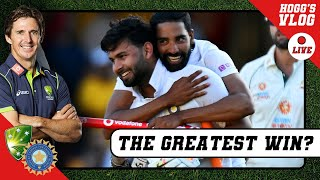 The GREATEST Test SERIES WIN ever? | #HoggsVlog LIVE | #AUSvIND 4th Test REVIEW