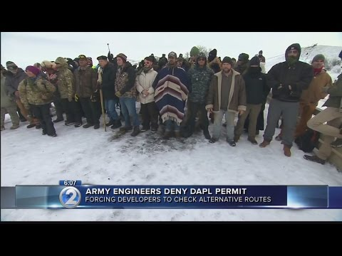 Army Corps blocks route of Dakota Access oil pipeline
