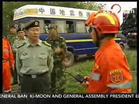 Rescue team arrives in Chengdu - May 13