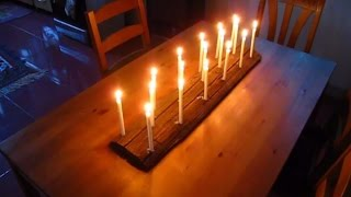 Reclaimed Wood Candle Holder, Recycled Mason Jars, Easy Diy Projects