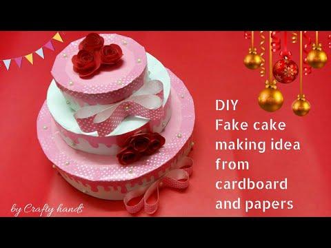DIY fake cake for Christmas /birthday/valentine's day decoration idea