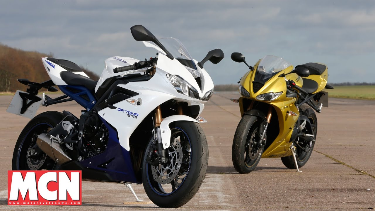 New Triumph Daytona Vs Old Tests Motorcyclenewscom Youtube