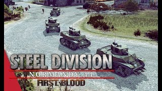 All Aboard The Stuart Train! Steel Division: Normandy 44 Live Gameplay (Pointe du Hoc, 2v2)
