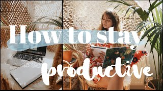 How To Stay Productive & My Work From Home Routine ♡