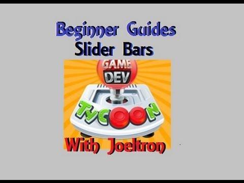 Game Dev Tycoon, Beginner Guides: Slider Bar Basics
