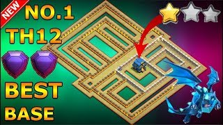 BEST TH12 WAR BASE 2018 Anti 1 Star/Anti 2 Star With Replay Anti Electro Dragon Anti Everything