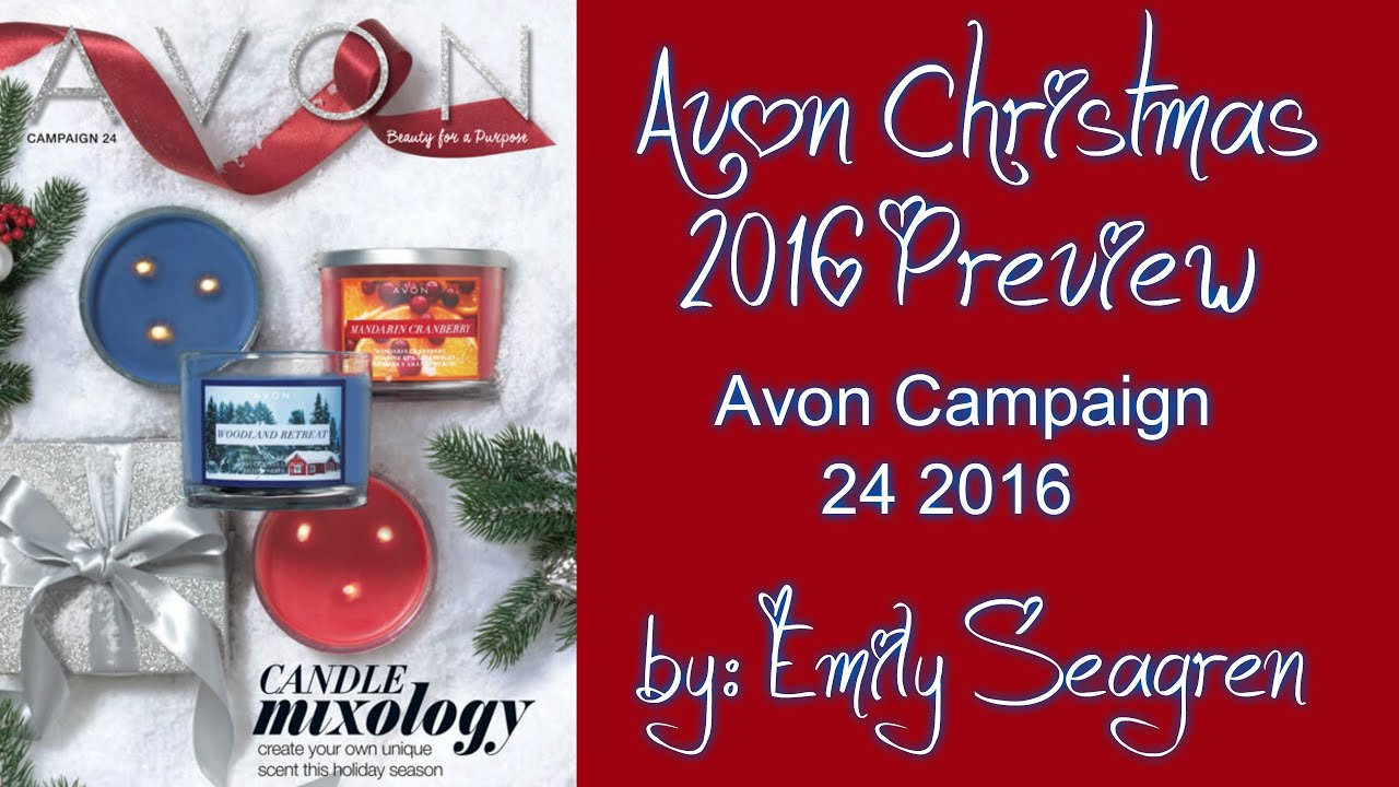 Avon Christmas 2016 Preview - Campaign 24 2016 Haul - YouTube