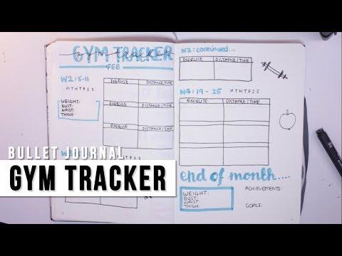 BULLET JOURNAL | FITNESS/GYM TRACKER