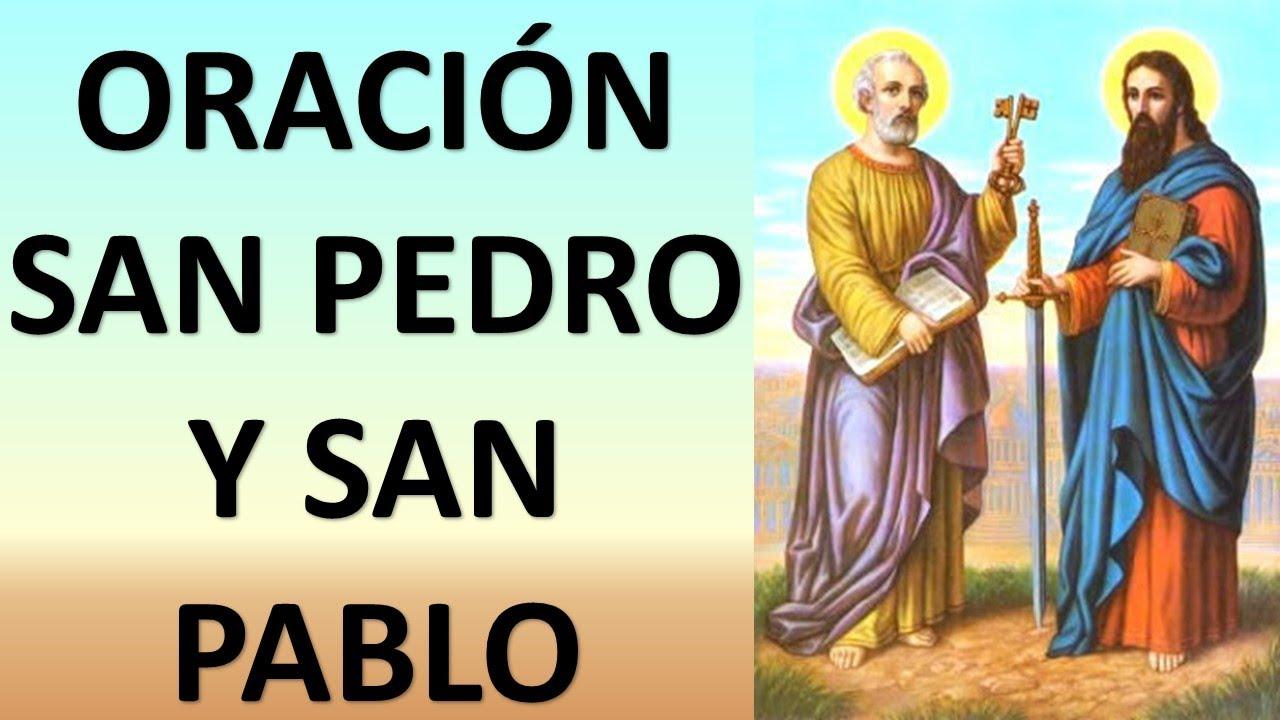 Oración A Los Santos Apóstoles San Pedro Y San Pablo