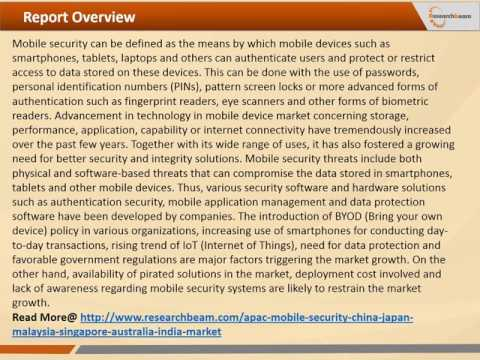 Mobile Security Asia-Pacific Market Research Report, 2014 - 2020