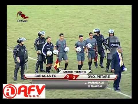 CARACAS FUTBOL CLUB VS DEPORTIVO PETARE
