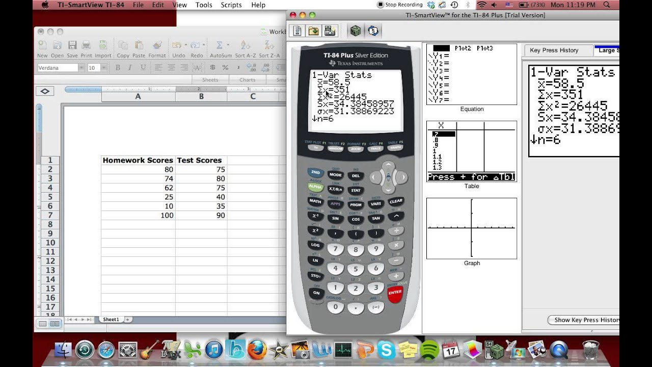 Ti 84 Plus Calculator: How To Find Mean Absolute Deviation Mean, Standard  Deviation,