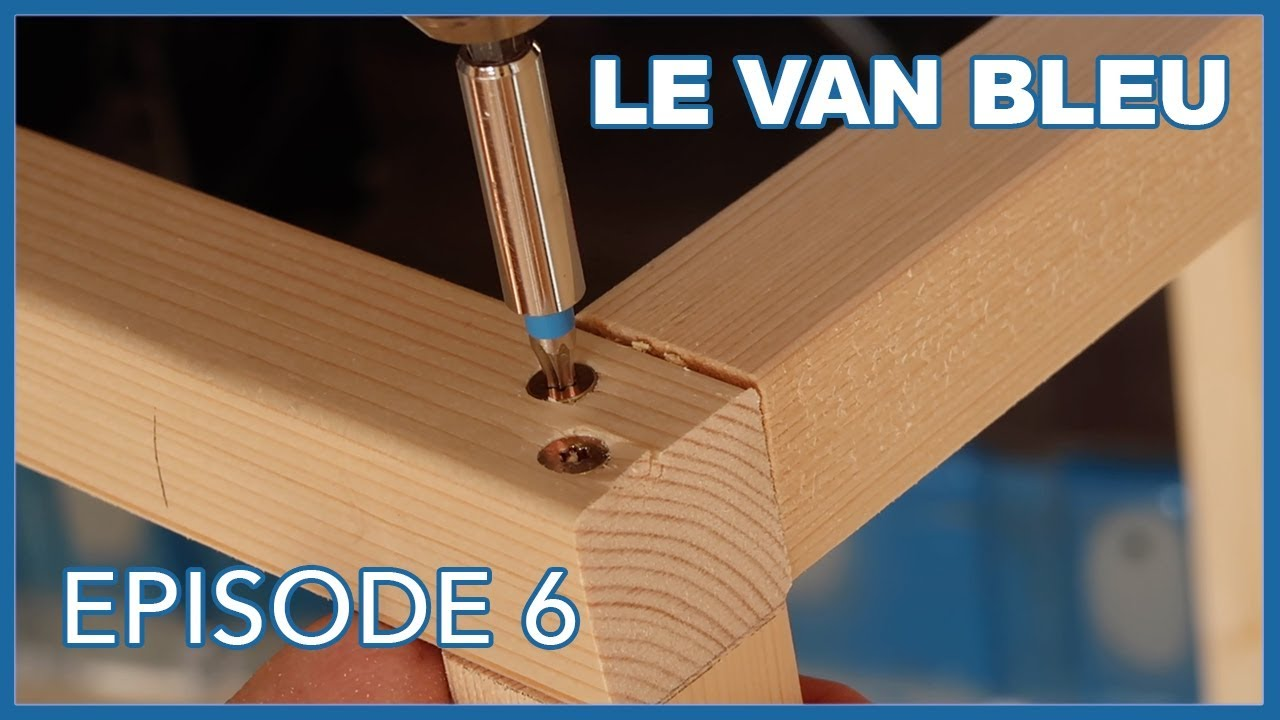 le van bleu episode 6 lit peigne et structures vanlife youtube. Black Bedroom Furniture Sets. Home Design Ideas