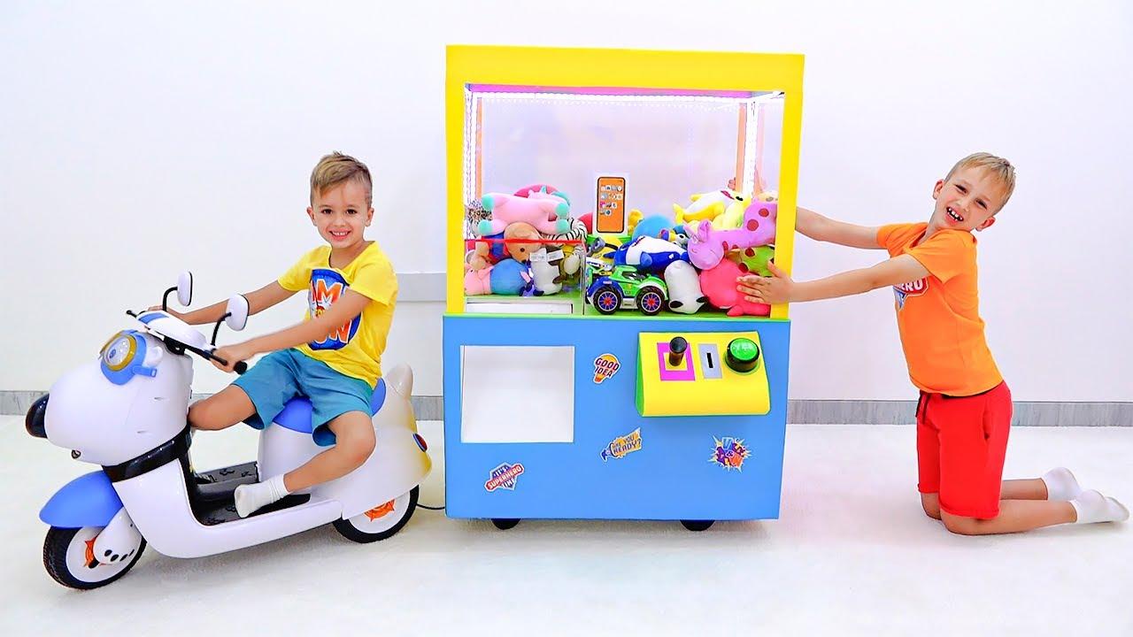 آلة فلاد ونيكي مخلب مع قصة ألعاب أطفال