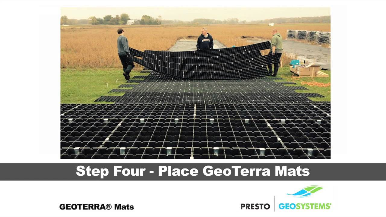 GEOTERRA® Construction Mats Installation with Auger Anchors