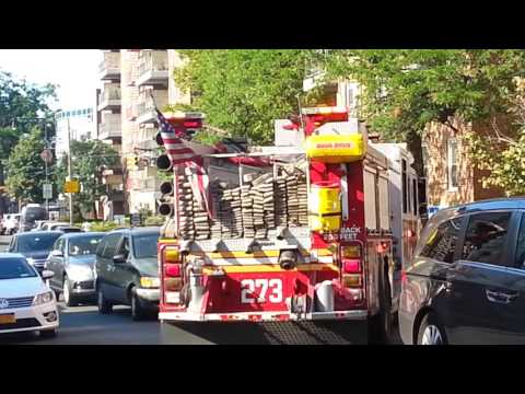 FDNY engine 273 respond to a run