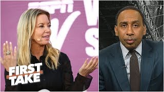 Jeanie Buss is completely wrong for denying Lakers' Anthony Davis pursuit - Stephen A. | First Take