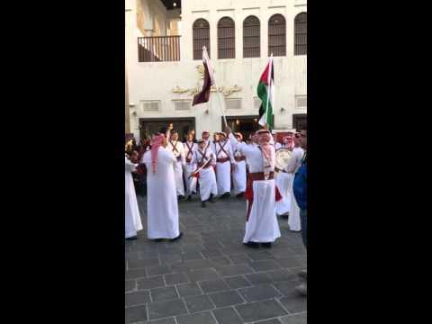 Qatari traditional dance @ Souq Waqif - Doha, Qatar