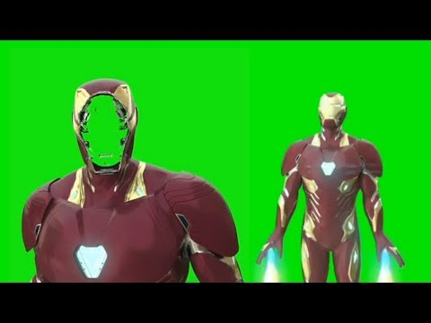 Iron Man Nano- tech Suit up Green Screen || MARK 50 GREEN SCREEN || MARVEL TechArt GS