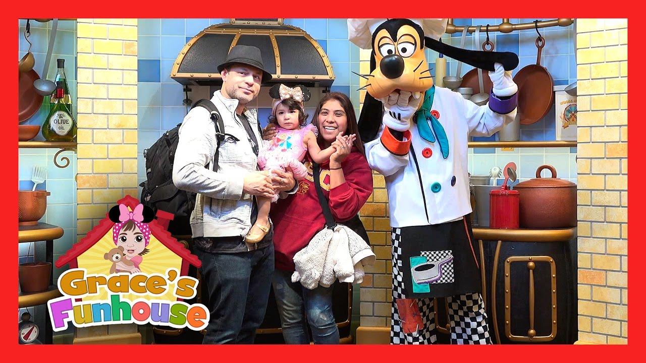 Disneyland Family Trip For Grace S Birthday At Goofy S Kitchen Restaurant In 4k Uhd