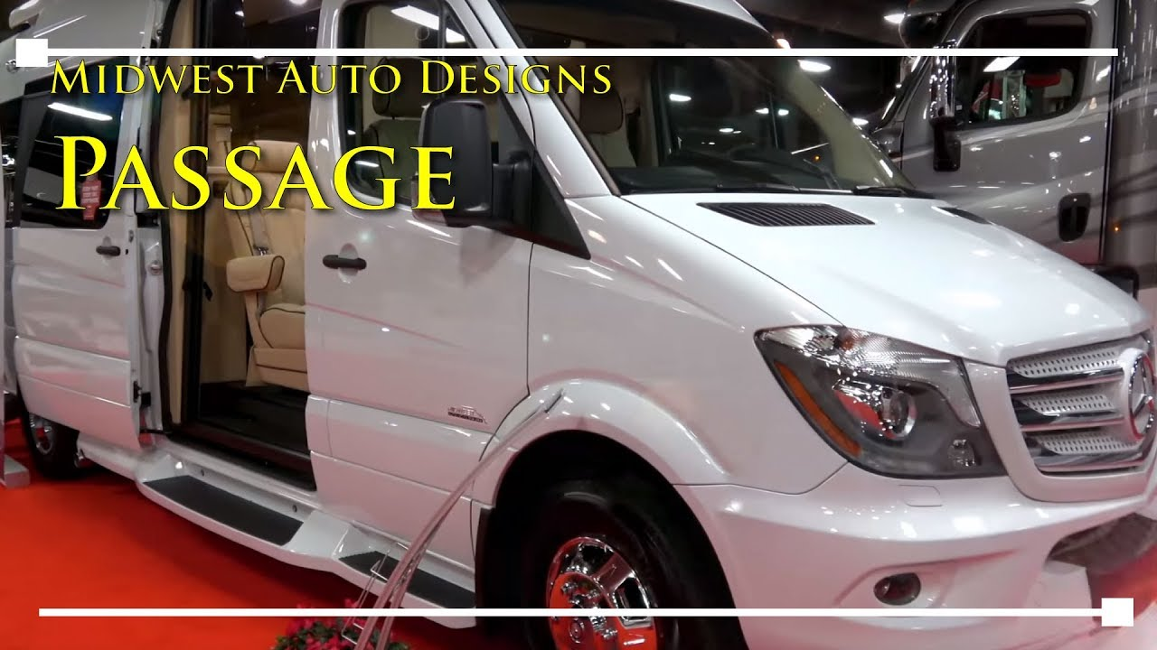 2018 Midwest Auto Design Passage Class B Motorhome - RVingPlanet com First  Look at New RV