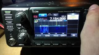 ab4bj icom ic 7300 first impressions part iii