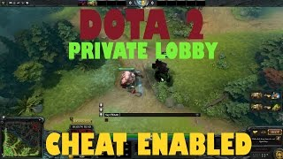 How to create private lobby to practice with cheats   Dota 2 reborn