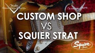 £3000 Custom Shop Fender vs £60 Squier (Friday Fretworks)