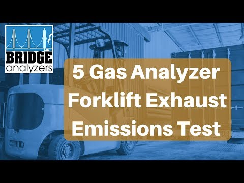 5 Gas Analyzer Forklift Emissions Test