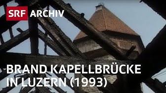 Brand Kapellbrücke (1993) | Luzerner Sehenswürdigkeit steht in Flammen | SRF Archiv