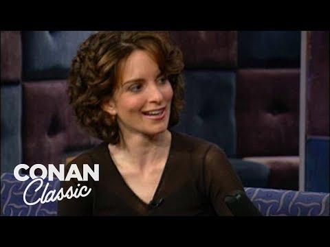 """Tina Fey On """"Late Night With Conan O'Brien"""" 02/16/01"""