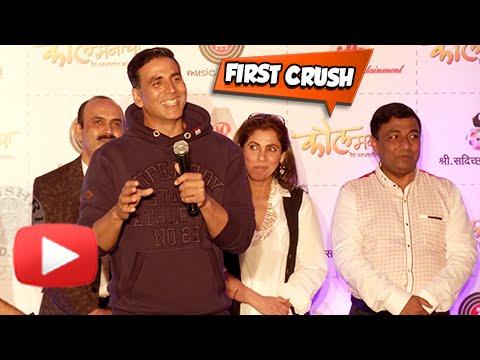 Akshay Kumar Reveals His First Crush | Watch Now | Kaul Manacha Marathi Movie | Music Launch
