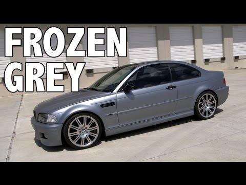 Bmw Frozen Grey Plasti Dip Youtube