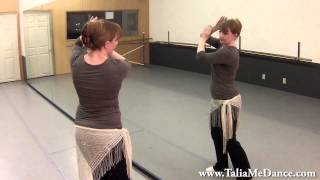 video of belly dance lesson with talia choreography to song gharjaria 5 of 6 s3 5 lesson 70