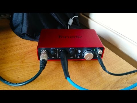 Focusrite Scarlett 2i2 USB Audio Interface Review With Song Example