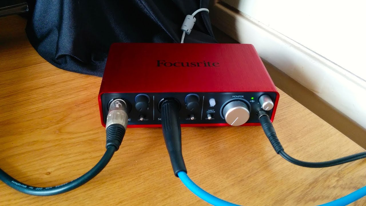 Focusrite Scarlett 2i2 Usb Audio Interface Review With Song Example Wiring