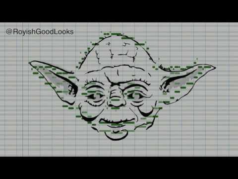 Yoda - MIDI Art Drawing
