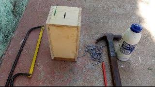 Como fazer cofrinho de madeira fácil de fazer