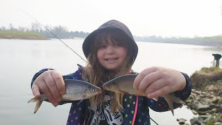 Разведка с фидером на Десне Рыболовные истории про сомов от юной рыбачки Леры