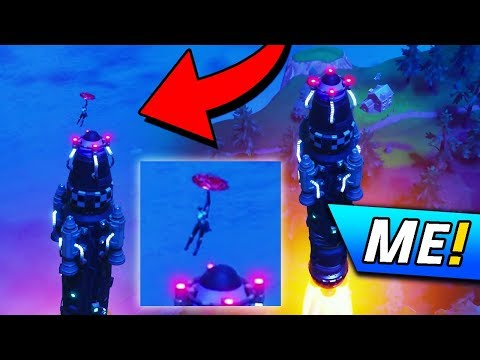RIDING THE FORTNITE ROCKET LAUNCH?! (Fortnite: Battle Royale ROCKET LAUNCH FOOTAGE)