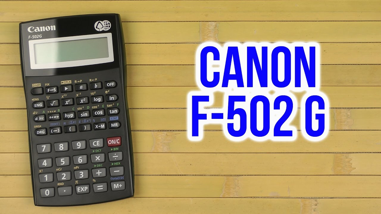 Canon F 502g Calculator User Guide Best Setting Instruction Guide