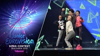 Junior Eurovision Song Contest 2015: The Virus (Georgia) first rehearsal