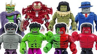 Dinosaur has changed! Marvel Avengers Minimates Grey, Red, Compound Hulk army! Go! - DuDuPopTOY