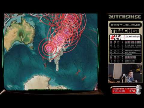 3/17/2017 -- Strange 'waves' seen on IR Weather Satellite -- Causing earthquakes in Colorado?