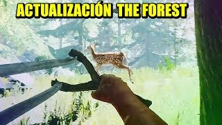 TIRACHINAS LEGENDARIO - Actualización THE FOREST 0.71   Gameplay Español