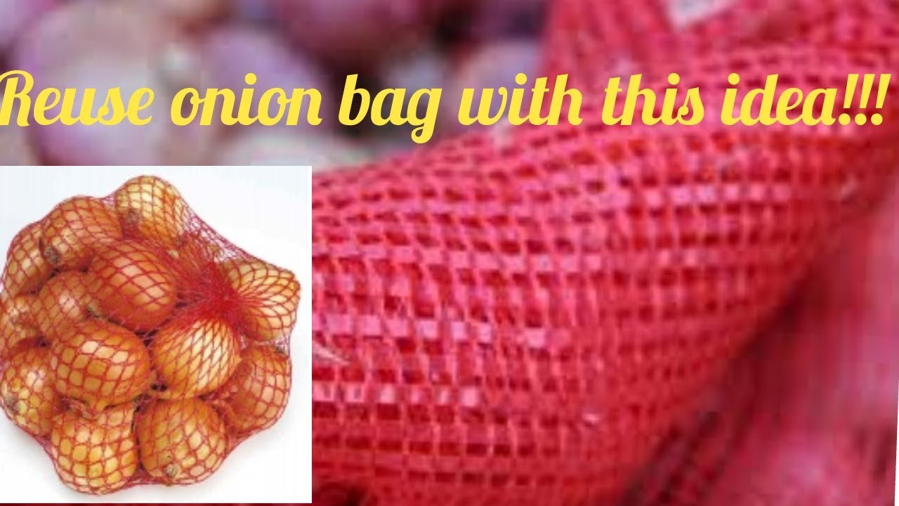 Reuse Idea With Onion Mesh Bags Cover Accessories Diy