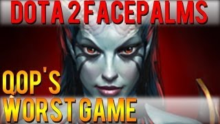 One of DoubleClickDota2's most viewed videos: Dota 2 Facepalms - QoP's Worst Game