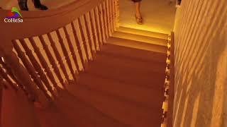 Подсветка лестницы на больцах